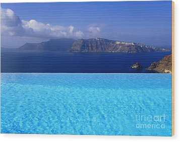Blue On Blue Wood Print by Aiolos Greek Collections