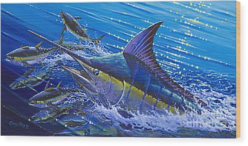 Blue Persuader  Wood Print by Carey Chen