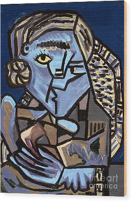 Blue Picasso Wood Print