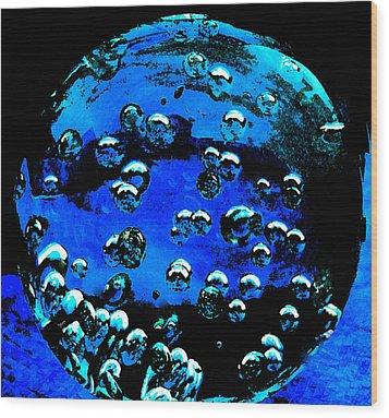 Blue Planet  Wood Print by Colette V Hera  Guggenheim