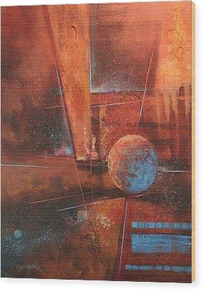Blue Planet Wood Print by Tom Shropshire