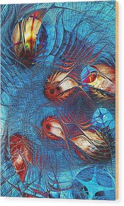 Blue Pond Wood Print by Anastasiya Malakhova