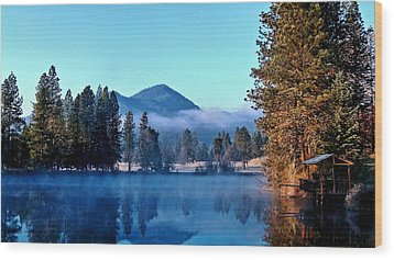 Wood Print featuring the photograph Blue Pond Sunrise by Julia Hassett