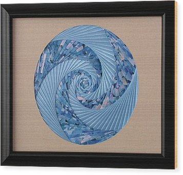 Blue Pool Wood Print by Ron Davidson