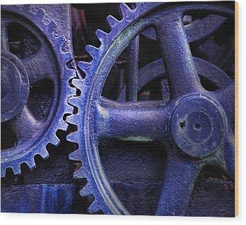 Blue Power Wood Print by David and Carol Kelly