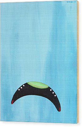 Blue Raspberry Ufo Wood Print
