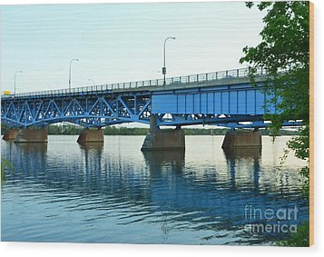 Blue Reflections Wood Print by Kathleen Struckle