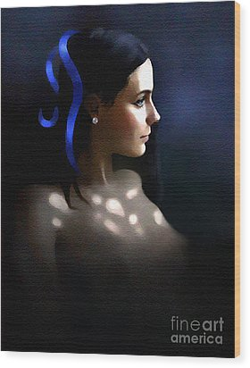 Blue Ribbon Wood Print by Robert Foster