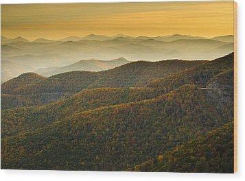 Wood Print featuring the photograph Blue Ridge Autumn by Serge Skiba