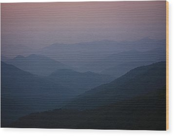 Wood Print featuring the photograph Blue Ridge Beauty by Tammy Schneider