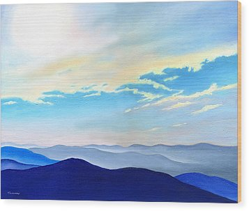 Blue Ridge Blue Above Wood Print