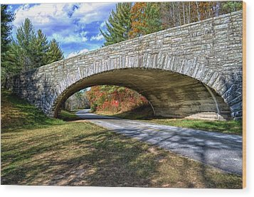 Blue Ridge Bridge Wood Print by Bob Jackson