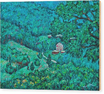 Blue Ridge Magic Wood Print by Kendall Kessler
