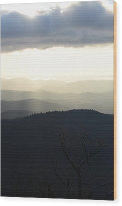 Blue Ridge Mist 2 Wood Print