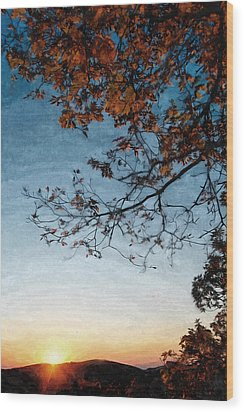 Blue Ridge Mountail Fall Wood Print