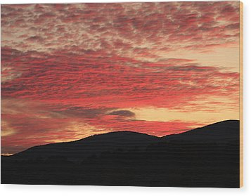 Blue Ridge Mountain Sunset-alabama Wood Print by Mountains to the Sea Photo