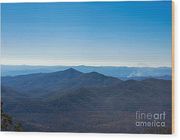Wood Print featuring the painting Blue Ridge Mountains by Debra Crank