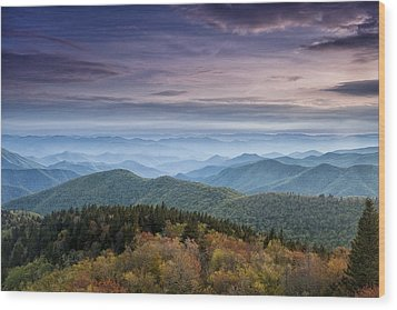 Blue Ridge Mountain Dreams Wood Print