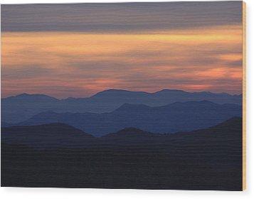 Blue Ridge Nc Wood Print