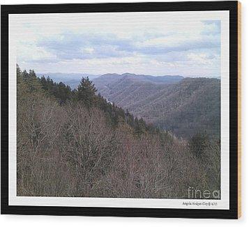 Blue Ridge Parkway Horizon Wood Print