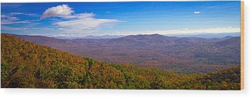 Wood Print featuring the photograph Blue Ridge Parkway by Marion Johnson