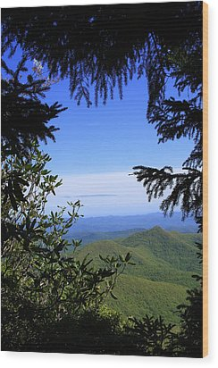Wood Print featuring the photograph Blue Ridge Parkway Norh Carolina by Mountains to the Sea Photo