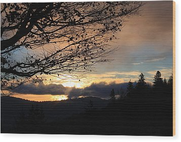Blue Ridge Parkway Sunrise Wood Print by Mountains to the Sea Photo