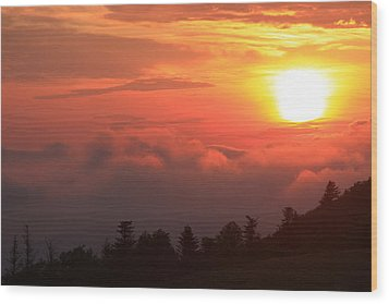 Blue Ridge Sunrise Great Balsam Mountains Wood Print by Mountains to the Sea Photo
