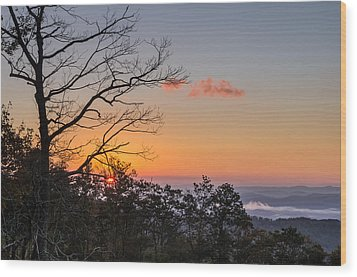Wood Print featuring the photograph Blue Ridge Sunrise by Gregg Southard