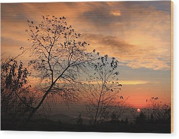 Wood Print featuring the photograph Blue Ridge Sunrise by Mountains to the Sea Photo