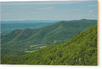 Blue Ridge Vista Wood Print by Lara Ellis
