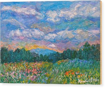Blue Ridge Wildflowers Wood Print