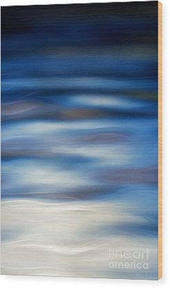 Blue Ripple Wood Print by Tim Gainey
