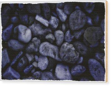 Blue Rocks Wood Print by Jerry Golab
