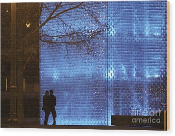 Blue Romance Wood Print by Kate Purdy