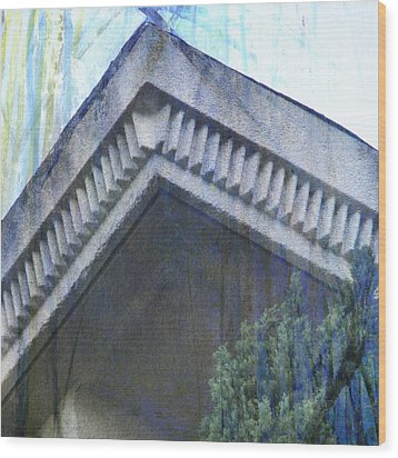 Wood Print featuring the photograph Blue Rooftop by John Fish