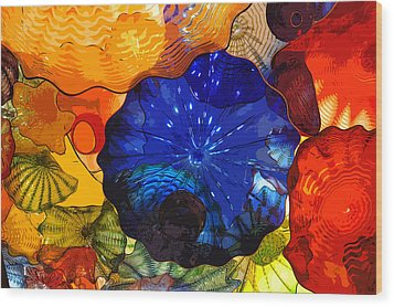 Wood Print featuring the digital art Blue Rose by Kirt Tisdale