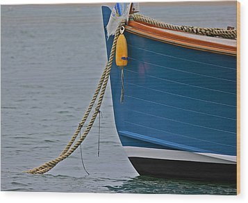Wood Print featuring the photograph Blue Sailboat by Amazing Jules