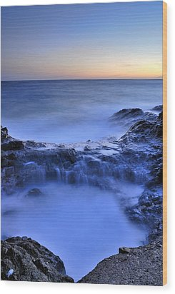 Blue Seaside Wood Print by Guido Montanes Castillo