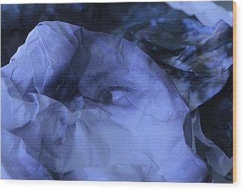 Blue Self Wood Print