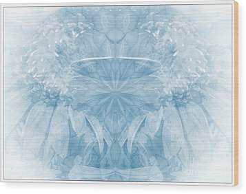 Wood Print featuring the photograph Blue Serinity by Geraldine DeBoer