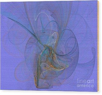 Blue Shell 1 Wood Print by Jeanne Liander