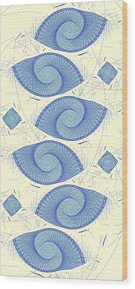 Blue Shells Wood Print by Anastasiya Malakhova