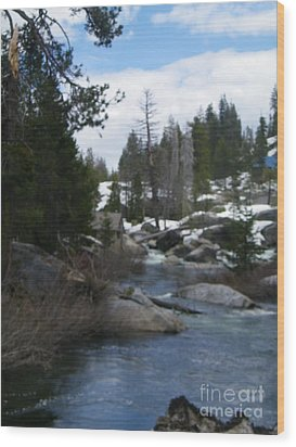 Wood Print featuring the photograph Blue Skies Of Winter by Bobbee Rickard