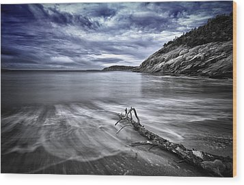 Blue Sky ... High Tide Wood Print by Chad Tracy