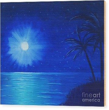 Blue Sky At Night Wood Print by Arlene Sundby
