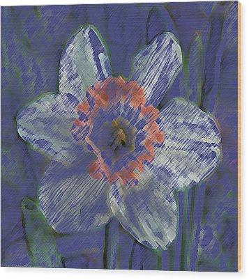 Blue Spring Flower Wood Print