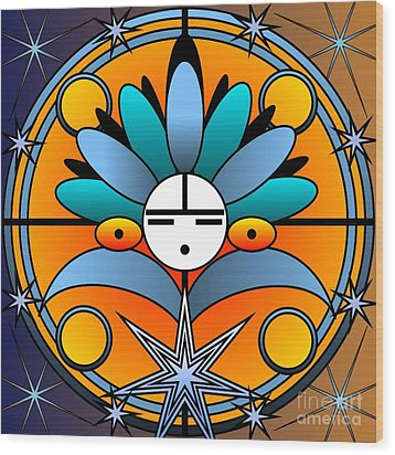 Blue Star Kachina 2012 Wood Print