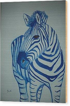 Blue Stripes Wood Print by Justin Lee Williams