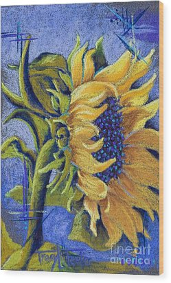 Blue Sunshine Wood Print by Tracy L Teeter